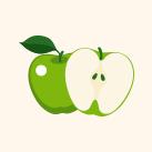 frozen zelené jablko