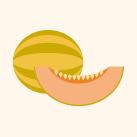 frozen žlutý meloun